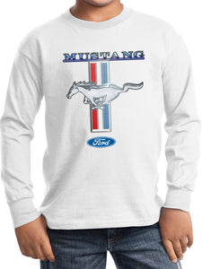 Kids Ford Mustang T-shirt Stripe Youth Long Sleeve