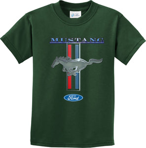 Kids Ford Mustang T-shirt Stripe Youth Tee