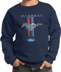 Kids Ford Mustang Sweatshirt Stripe Youth Sweat Shirt