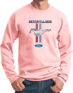 Ford Mustang Sweatshirt Stripe Pullover Sweat Shirt