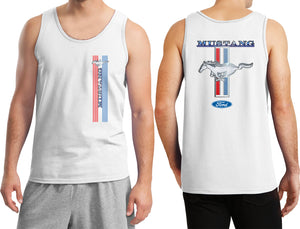 Ford Mustang Tank Top Stripe Tanktop Front and Back