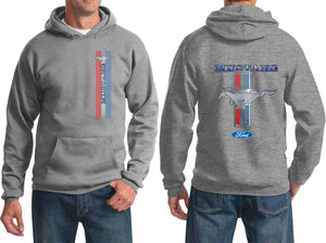 Ford Mustang Hoodie Stripe Hooded Sweatshirt Front and Back