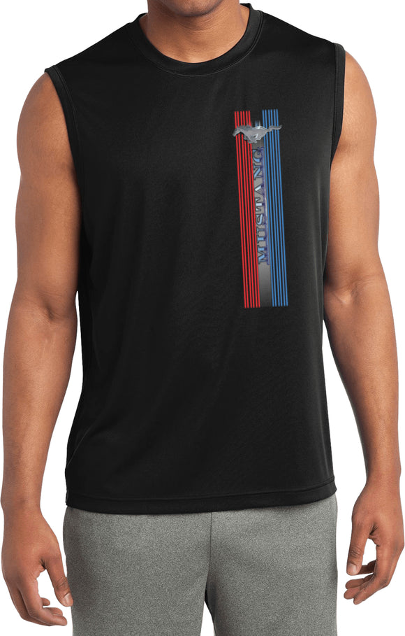Ford Mustang T-shirt Pony Logo Tri Bar Sleeveless Competitor Tee