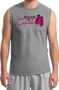 Breast Cancer T-shirt Walking For a Cure Muscle Tee