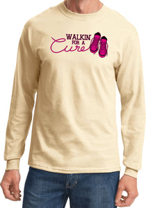 Breast Cancer T-shirt Walking For a Cure Long Sleeve