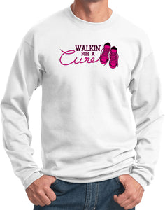 Breast Cancer Sweatshirt Walking For a Cure