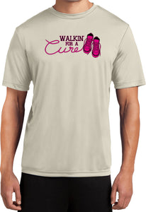 Breast Cancer T-shirt Walking For a Cure Moisture Wicking Tee