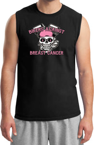 Breast Cancer T-shirt Bikers Against Breast Cancer Muscle Tee