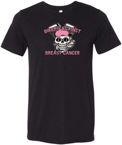 Buy Cool Shirts Breast Cancer T-shirt Bikers Against Breast Cancer Tri Blend Tee