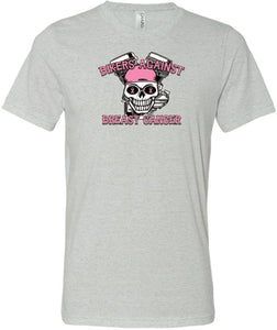 Breast Cancer T-shirt Bikers Against Breast Cancer Tri Blend Tee