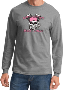 Breast Cancer T-shirt Bikers Against Breast Cancer Long Sleeve