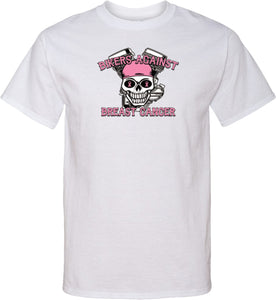 Breast Cancer T-shirt Bikers Against Breast Cancer Tall Tee