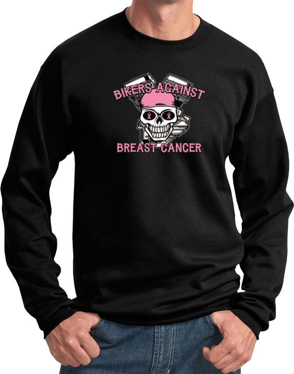 Breast Cancer Sweatshirt Bikers Against Breast Cancer