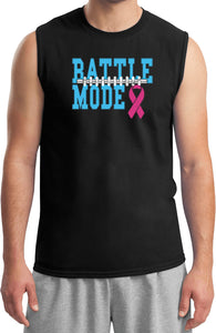 Breast Cancer T-shirt Battle Mode Muscle Tee