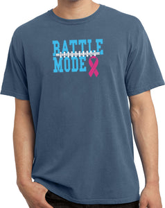 Breast Cancer T-shirt Battle Mode Pigment Dyed Tee