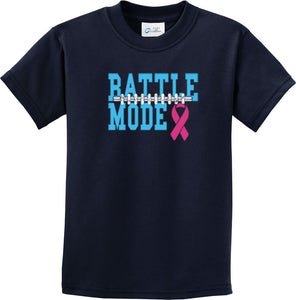 Kids Breast Cancer T-shirt Battle Mode Youth Tee