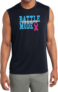 Breast Cancer T-shirt Battle Mode Sleeveless Competitor Tee