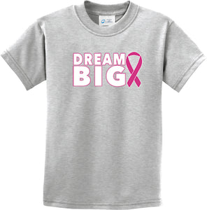 Kids Breast Cancer Awareness T-shirt Dream Big Youth Tee