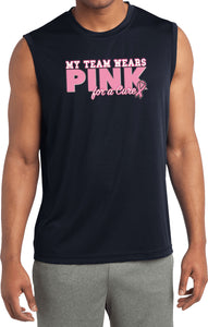 Breast Cancer Shirt My Team Wears Pink Sleeveless Competitor Tee