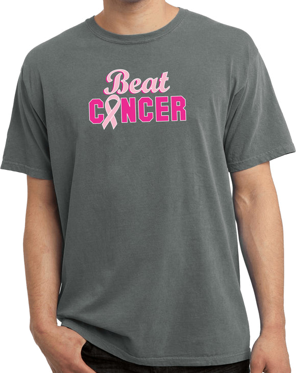 Breast Cancer T-shirt Beat Cancer Pigment Dyed Tee