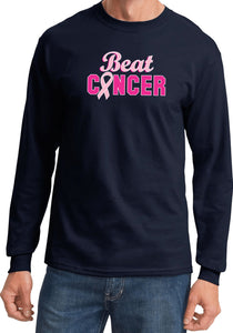 Breast Cancer T-shirt Beat Cancer Long Sleeve