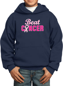 Kids Breast Cancer Hoodie Beat Cancer
