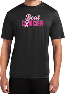 Breast Cancer T-shirt Beat Cancer Moisture Wicking Tee