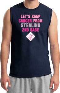 Breast Cancer T-shirt Second Base Muscle Tee