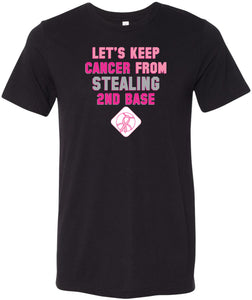 Breast Cancer T-shirt Second Base Tri Blend Tee