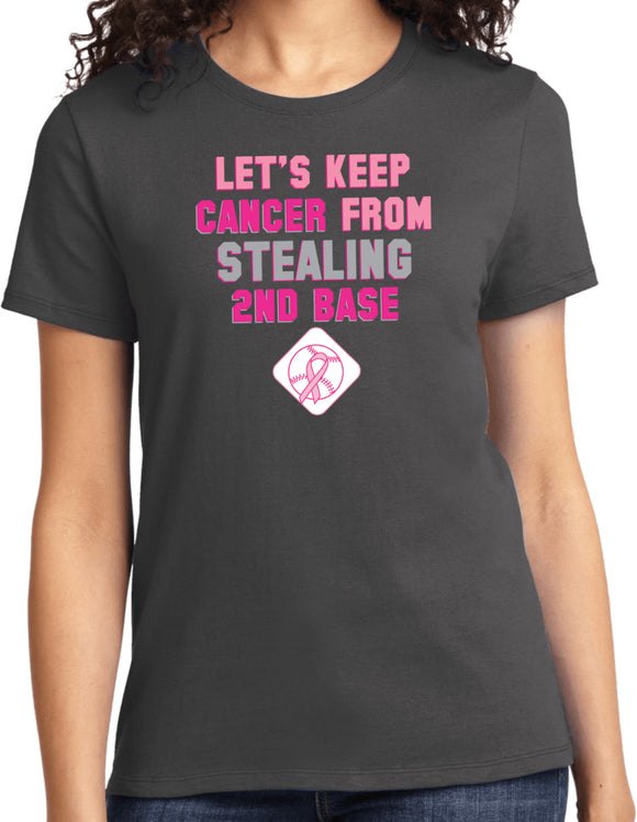 Ladies Breast Cancer T-shirt Second Base Tee