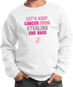 Kids Breast Cancer Sweatshirt Second Base