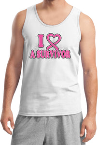 Breast Cancer Tank Top I Heart a Survivor Tanktop