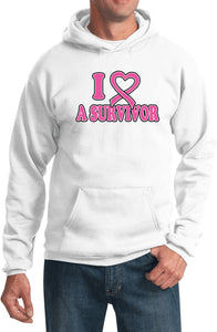 Buy Cool Shirts Breast Cancer Hoodie I Heart a Survivor