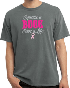 Breast Cancer T-shirt Save a Life Pigment Dyed Tee