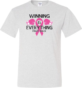 Breast Cancer T-shirt Winning is Everything Tall Tee