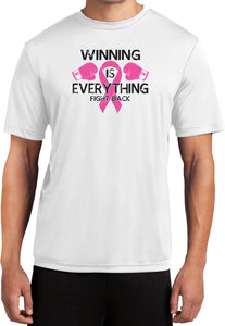 Breast Cancer T-shirt Winning is Everything Moisture Wicking Tee