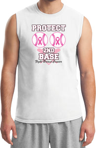 Breast Cancer T-shirt Protect Second Base Muscle Tee