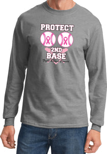 Breast Cancer T-shirt Protect Second Base Long Sleeve