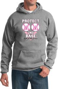 Breast Cancer Hoodie Protect Second Base