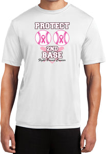 Breast Cancer T-shirt Protect Second Base Moisture Wicking Tee