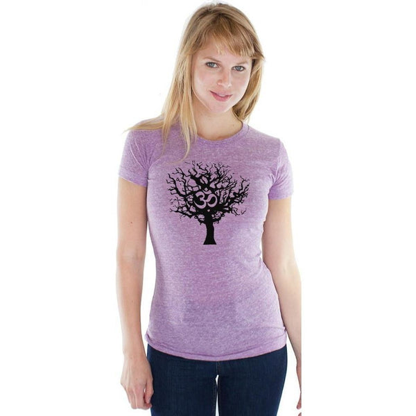 Yoga Clothing for You Ladies BLACK TREE Old School Gym Tee