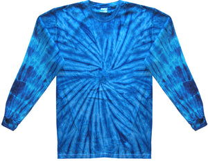 Mens Tie Dye Long Sleeve Tee Shirt