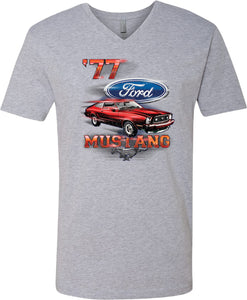 Ford T-shirt 1977 Mustang V-Neck