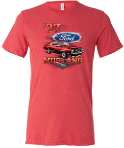 Ford T-shirt 1977 Mustang Tri Blend Tee