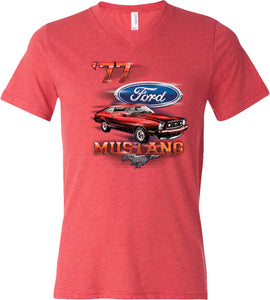 Ford T-shirt 1977 Mustang Tri Blend V-Neck