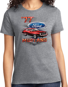 Ladies Ford T-shirt 1977 Mustang Tee
