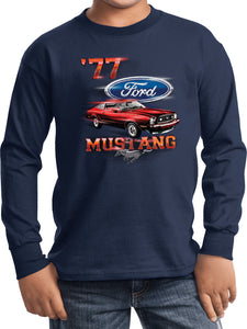 Kids Ford T-shirt 1977 Mustang Youth Long Sleeve