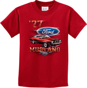 Kids Ford T-shirt 1977 Mustang Youth Tee