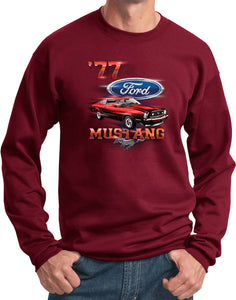 Ford Sweatshirt 1977 Mustang Pullover Sweat Shirt