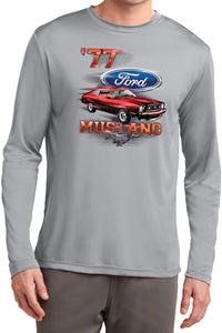 Ford T-Shirt 1977 Mustang Moisture Wicking Long Sleeve